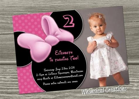 Minnie Mouse Birthday Invitations Wording
