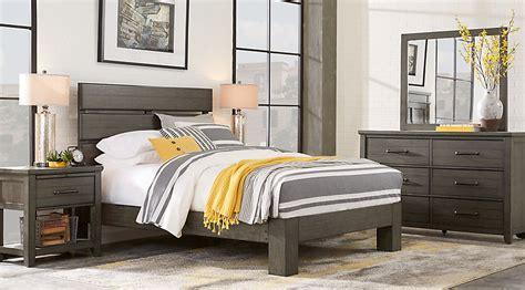 rooms to go mattress plains gray 5 pc slat platform bedroom