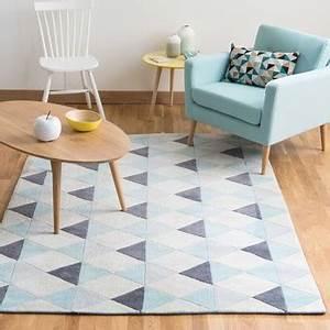 Maison Du Monde Tapis Enfant : tapis tapis de salon en coton tress ou en lin ~ Teatrodelosmanantiales.com Idées de Décoration