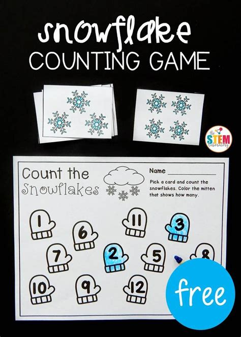 snowflake counting winter activities for 586 | 585f558c646021ed6a77b6c9a21303e6