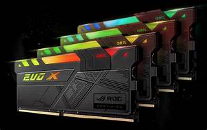 GeIL Announces EVO X RGB Memory With ASUS ROG Certification