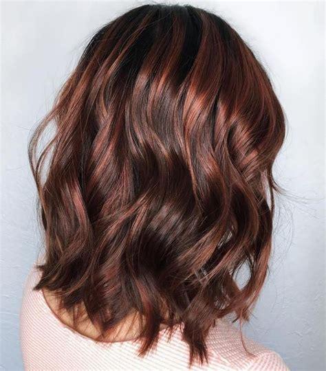chocolate brown hair color ideas  brunettes lob