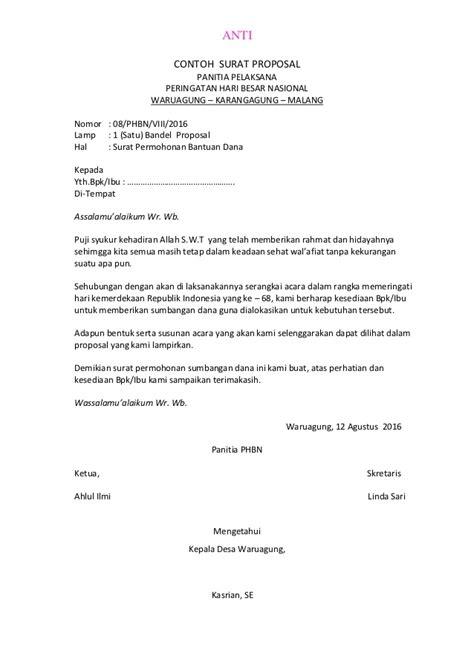 Contoh surat proposal