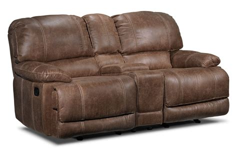 loveseat recliner with console durango reclining loveseat w console saddle brown s