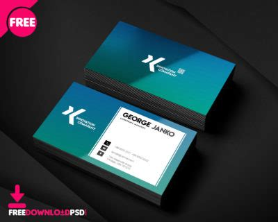 material design business cards psd freedownloadpsdcom