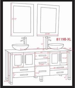 Impressive Bathroom Vanity Dimensions #7 Double Sink