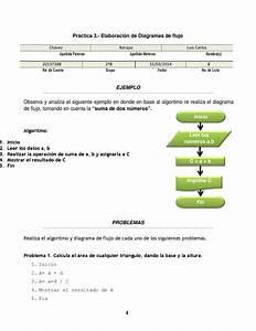 Diagrama De Flujo  Practica 3 By Luis Carlos