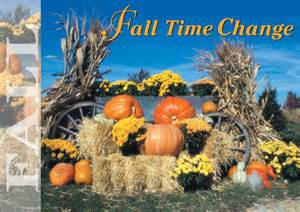 Fall Time Change Postcards