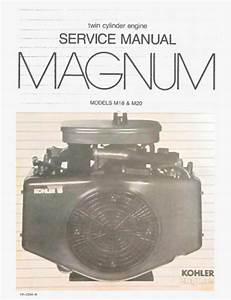 Kohler M 18 M 20 Magnum Service Manual Download