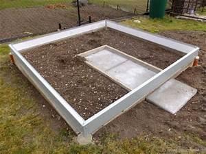Trockenmauer Bauen Ohne Fundament : gartenhaus fundament rahmen my blog ~ Lizthompson.info Haus und Dekorationen