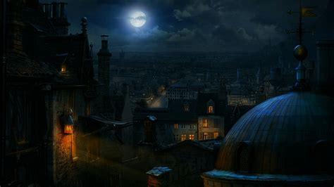 fantasy city street  night hd wallpaper wallpaper