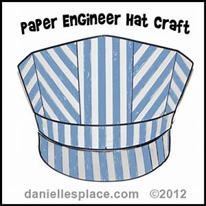 hat crafts and learning activities for children With conductor hat template