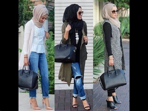 Casual Hijab Outfit with Cardigan and Jeans II - YouTube