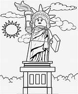 Lego Coloring Pages Liberty Statue sketch template