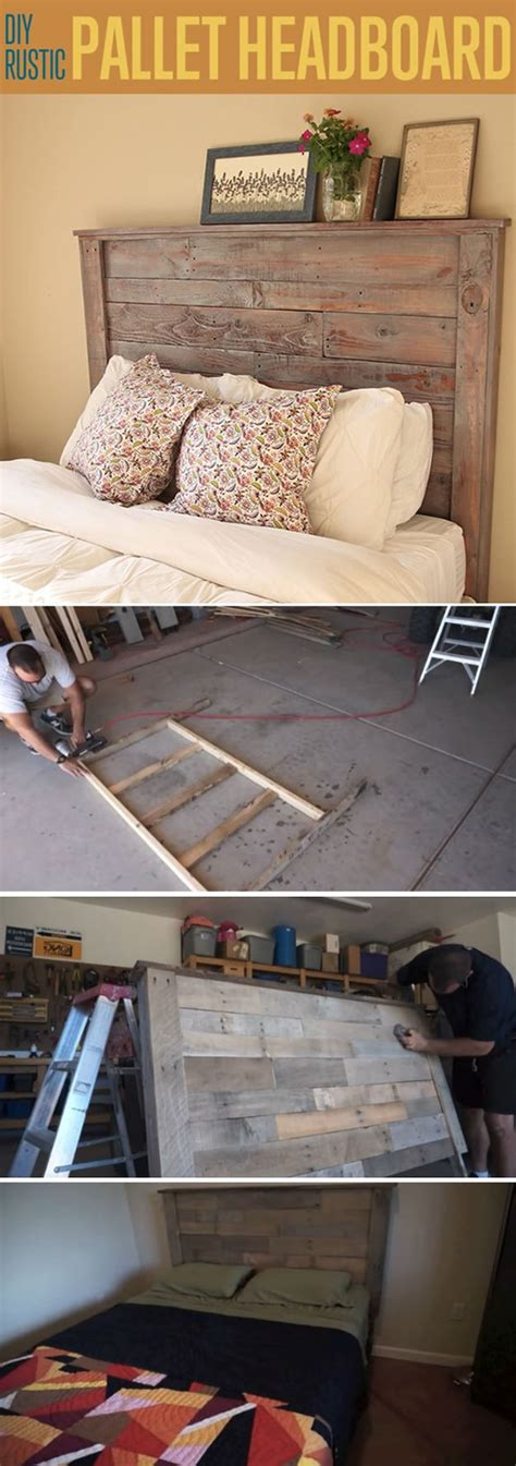 rustic pallet headboard diy headboard project ideas for every home diy projects Diy
