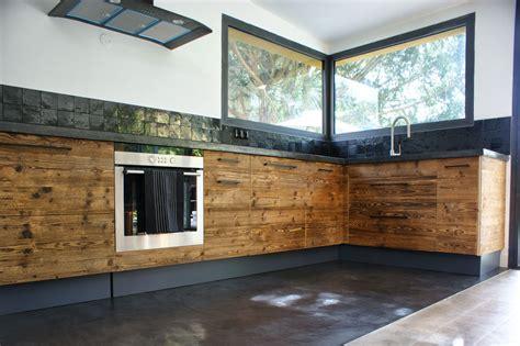 cuisine en béton ciré salle de bain beton cire et bois