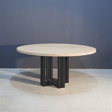 ronde eettafel industrieel ronde eettafel met industrieel zwart staal concept table