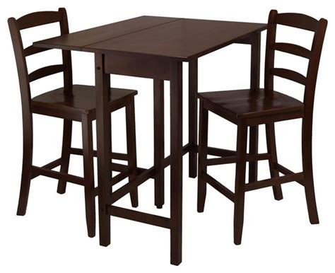 lynnwood 3 pc drop leaf high pub table set contemporary