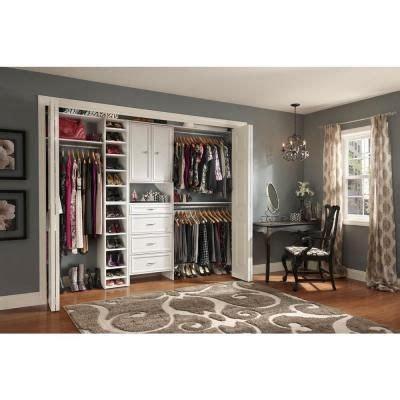 www closetmaid closetmaid selectives 25 in white custom closet organizer
