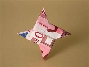 Stern Falten Geld : wurfstern geldscheine und geldgeschenke origami kunst ~ Lizthompson.info Haus und Dekorationen