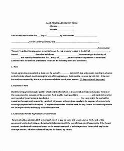 land rental contract template - rental agreement form 12 free word pdf documents