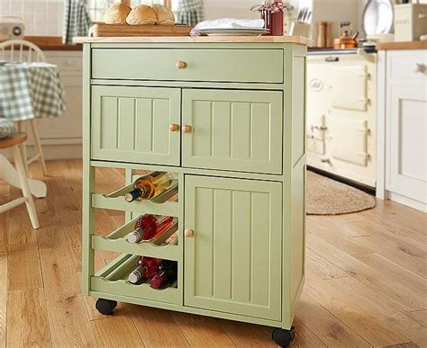 Winchcombe Kitchen Trolley Storage Island Cart Rack
