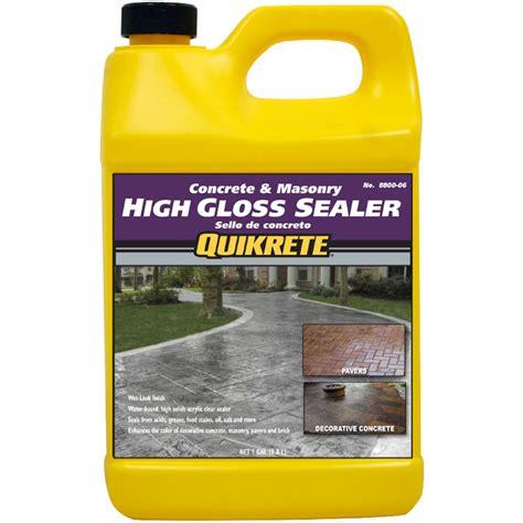 high gloss sealer quikrete high gloss sealer wet look gal