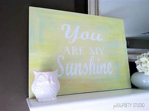 diy painted canvas art with vinyl lettering cut from a With vinyl letters on canvas