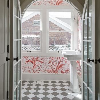 Black and White Marble Floor   Traditional   entrance