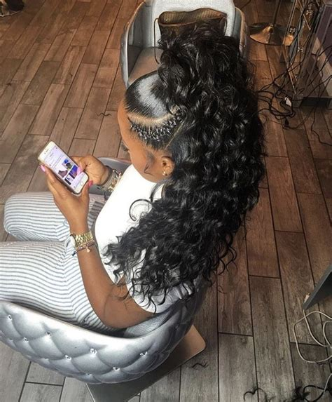 Half Sew In Weave Hairstyles by Curly Half Up Half Sew In Hair Hair