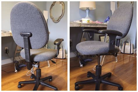 diy reupholstered office chair simple stylings