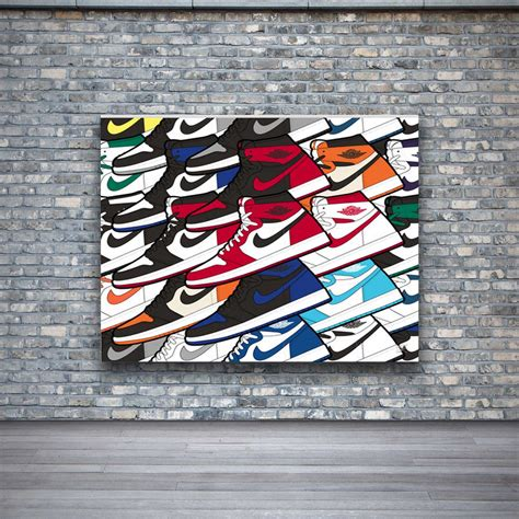 We have a massive amount of hd images that will make your computer or smartphone. Air Jordan 1 Colorful Design Wall Art Canvas Print Poster $25.0 | Wall art designs, Canvas ...