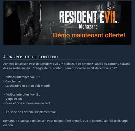 Resident Evil 7  Le Contenu Du Season Pass Dévoilé