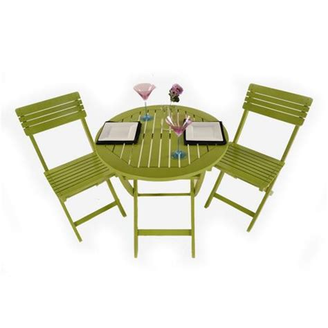 buy painted wooden 2 seater folding bistro set green