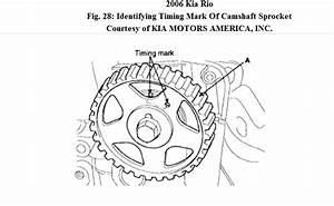 2006 Kia Rio Timing Chain Alignment Show Marks