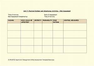blank army risk assessment form pictures to pin on With formal risk assessment template