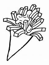Fries Friet Frytki Patat Kolorowanka Flevoland Voedzo Frietjes Babeczka Ladnekolorowanki 1001coloring Patatje Leukekleurplaten Avond Hollandse Snack Kolorowanki Przedmioty sketch template