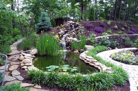 garden pond waterfall ideas pool design ideas