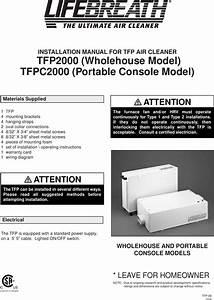 Lifebreath Tfp2000 Users Manual