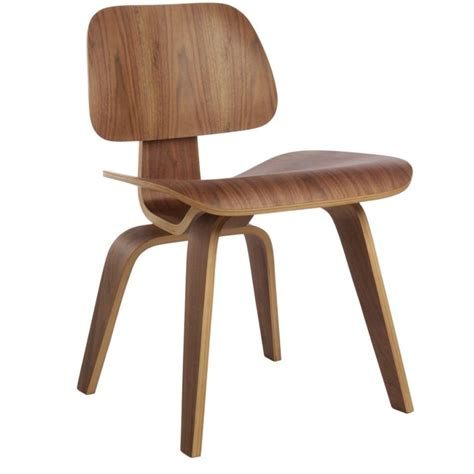 replica eames dcw moulded dining chair in walnut buy