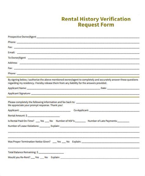 free rental history verification form verification of rental history form pike productoseb co