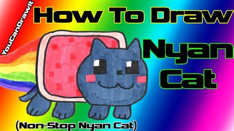 draw nyan cat   stop nyan cat youcandrawit p hd youtube