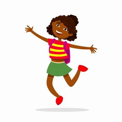 African American Child Clip Afro Having Fun