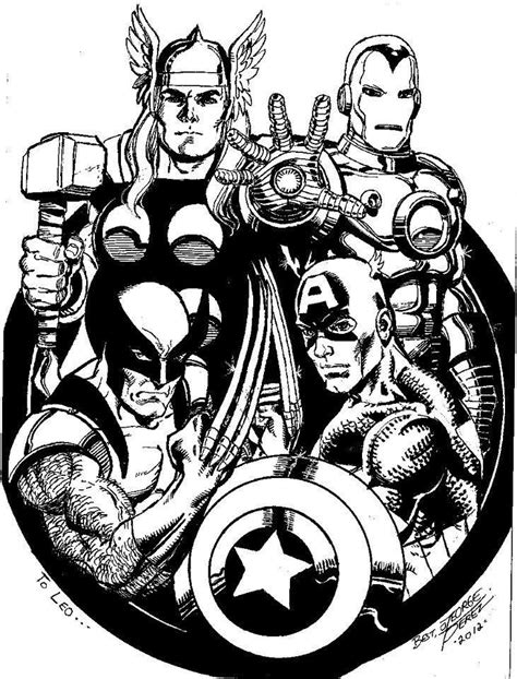 Avengers by George Perez * | *Artist: George Perez