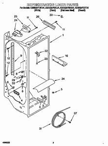 Refrigerator Liner Diagram  U0026 Parts List For Model