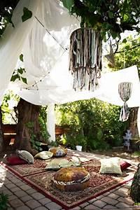 26 adorable boho chic terrace designs digsdigs With deco de terrasse exterieur 10 deco salon hippie chic