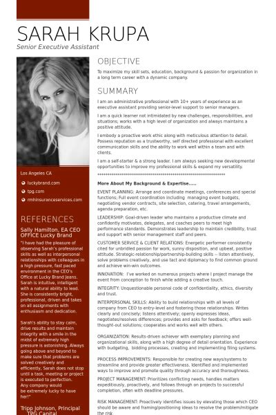 Executive Assistant To Ceo Resume by Resume Sle Executive Assistant To Ceo Executive