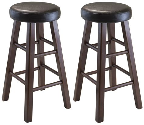 winsome wood marta assembled  counter stool  pu