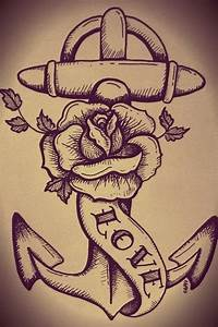 Anchor, rose tattoo-- just like the skull ..can ...