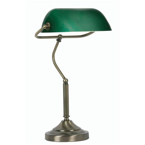 Bankers Desk Lamp Green by Oaks 1x60w Antique Brass Green Bankers Table Bedside Lamp